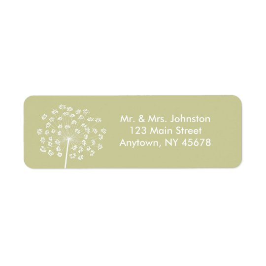 Queen Anne's Lace Address Label