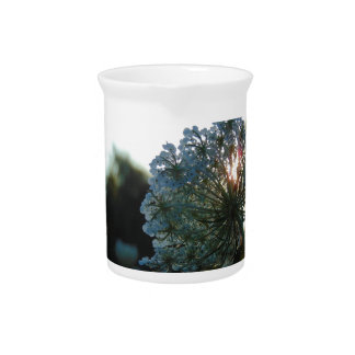 Queen Anne's Lace at Sunset Beverage Pitchers