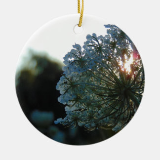 Queen Anne's Lace at Sunset Ceramic Ornament