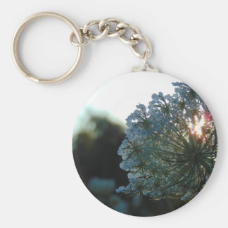 Queen Anne's Lace at Sunset Keychain
