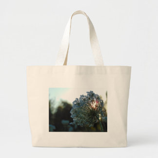 Queen Anne's Lace at Sunset Large Tote Bag