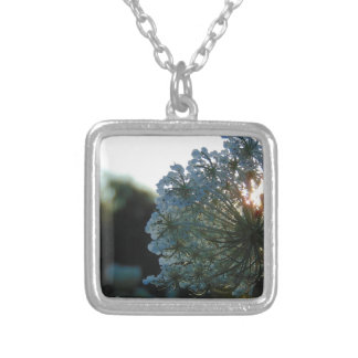 Queen Anne's Lace at Sunset Silver Plated Necklace
