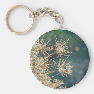 Queen Anne's Lace Close Up Keychain