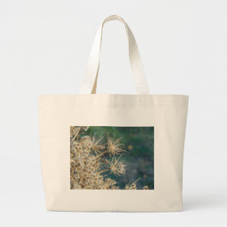 Queen Anne's Lace Close Up Large Tote Bag