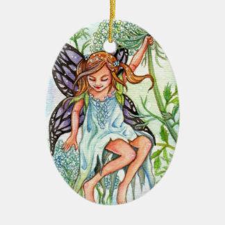 Queen Anne's Lace Fairy Ceramic Ornament