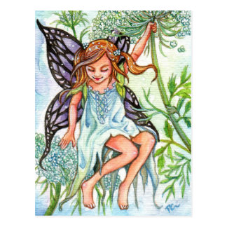 Queen Anne's Lace Fairy Postcard