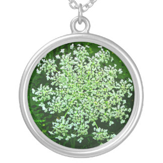 Queen Anne's Lace Silver Plated Necklace