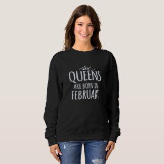 queen are born in february Black Sweatshirt