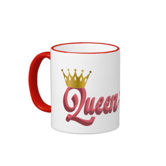 Queen B Pink and Black Mug