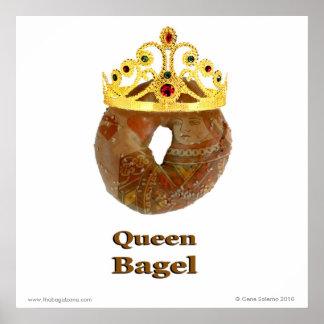 Queen Bagel Poster