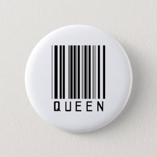 Queen Bar Code 2 Inch Round Button