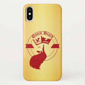 Queen Beard Emblem on Gold iPhone X Case