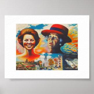 Queen Beatrix 75 years Poster
