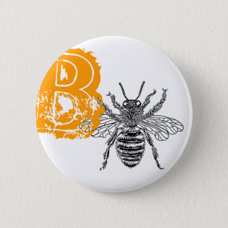 Queen Bee 2 Inch Round Button