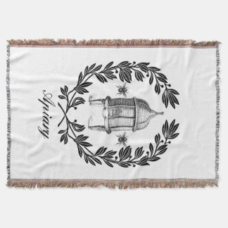Queen Bee Apiary Theme Throw Blanket
