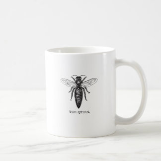 Queen Bee Black and White Illustration Coffee Mug