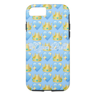 Queen Bee (Blue)| Apple iPhone 7, Tough Phone Case