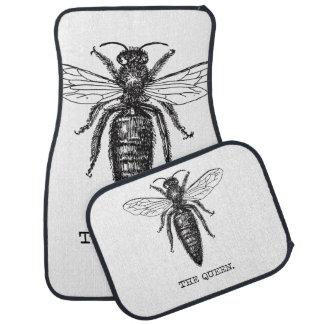 Queen Bee Classic Illustration Car Mat