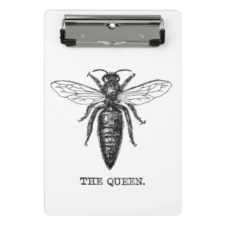 Queen Bee Classic Illustration Mini Clipboard
