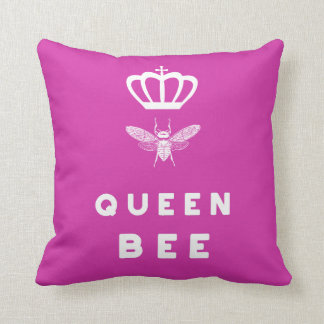 Queen Bee. Crown. Funny Cute Sayings. Throw Pillow