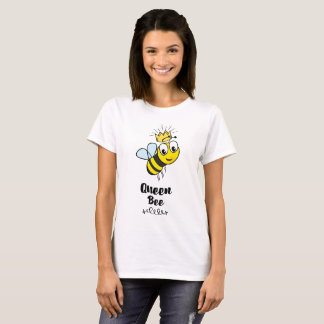 Queen Bee Cute Bumble Bee with Crown T-Shirt