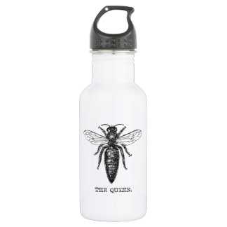 Queen Bee Drawing Vintage Black 532 Ml Water Bottle