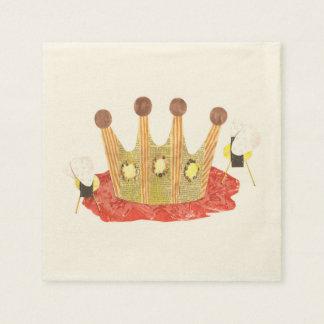 Queen Bee Ecru Napkins Paper Napkin