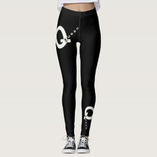 QUEEN BEE Fashion Leggings-Women-Black/White Leggings