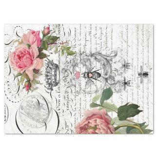 Queen Bee Floral Script Decoupage Sheet Tissue Paper