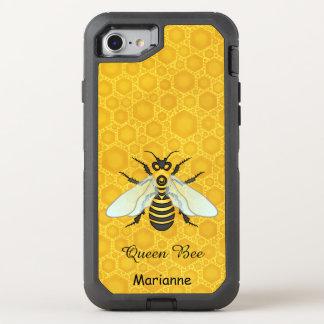 Queen Bee Honeybee Honeycomb Pretty   Add Name OtterBox Defender iPhone 7 Case