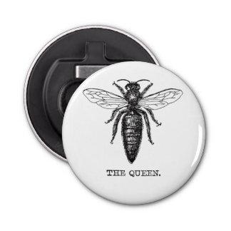Queen Bee Illustration Vintage Bottle Opener