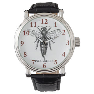 Queen Bee Illustration Vintage Watch