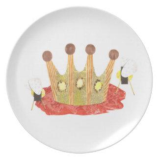 Queen Bee Melamine Plate