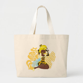 Queen Bee Pin Up Large Tote Bag