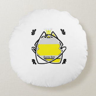 Queen Bee Rules Round Pillow
