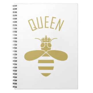 Queen Bee Spiral Notebooks