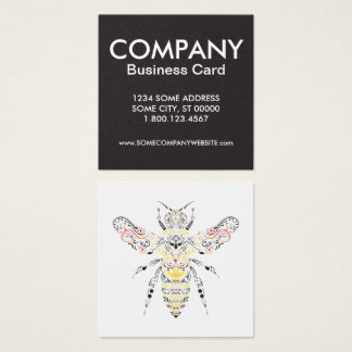 queen bee square business card