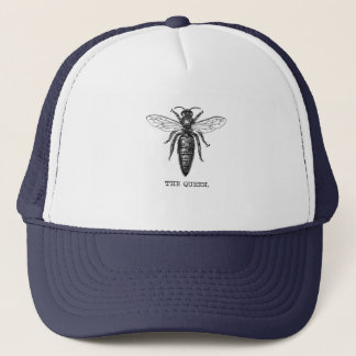Queen Bee Vintage Minimal Artwork Trucker Hat