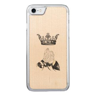Queen Bee Wooden Iphone Carved iPhone 7 Case