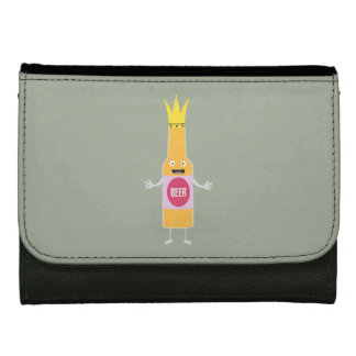 Queen Beer bottle with crone Zfq4y Leather Wallet For Women