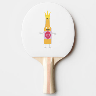 Queen Beer bottle with crone Zfq4y Ping Pong Paddle