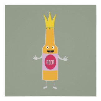 Queen Beer bottle with crone Zfq4y Poster