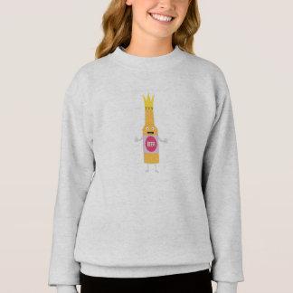 Queen Beer bottle with crone Zfq4y Sweatshirt