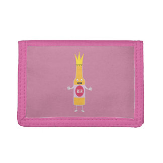 Queen Beer bottle with crone Zfq4y Tri-fold Wallets