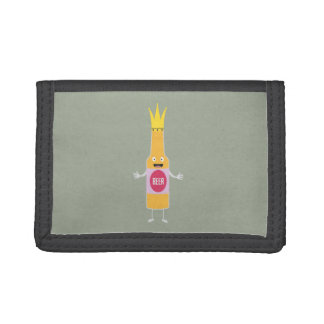Queen Beer bottle with crone Zfq4y Trifold Wallet