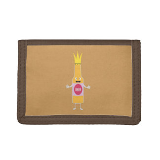 Queen Beer bottle with crone Zfq4y Trifold Wallets