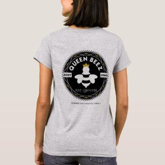 QUEEN BEEZ: Official Logo on Women's Grey T-Shirt
