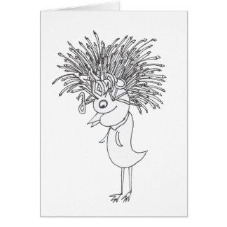 Queen Birdie Note Card Design