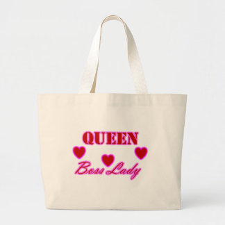 Queen Boss Lady Hearts Jumbo Tote