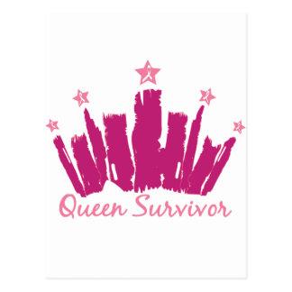 Queen Breast Cancer Survivor Postcard